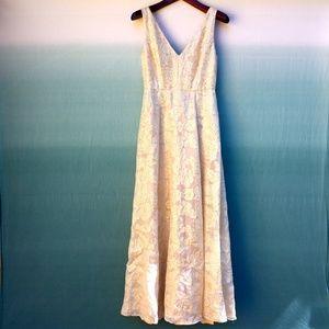 Erin Fetherston Gwendolyn Gold Formal Dress Sz 6